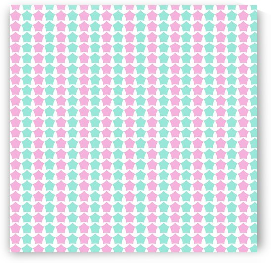 Pink _ Blue Star Seamless Pattern Artwork by rizu_designs