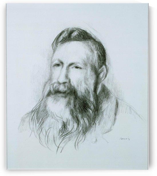 Portrait of Rodin by Pierre Auguste Renoir
