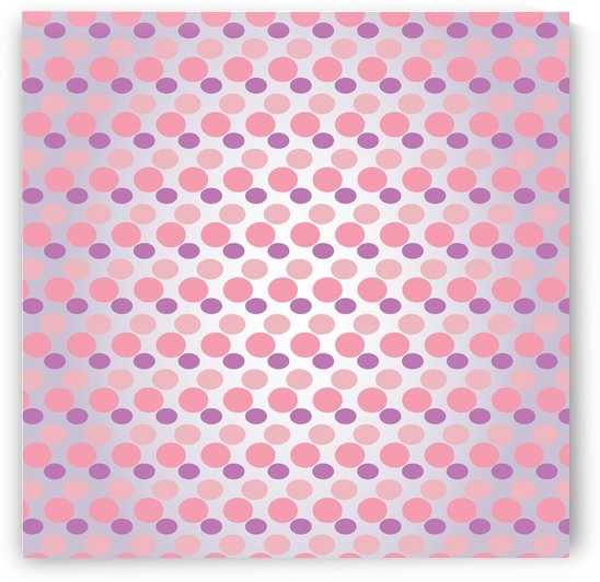 Pink Dots Seamless Pattern Art by rizu_designs