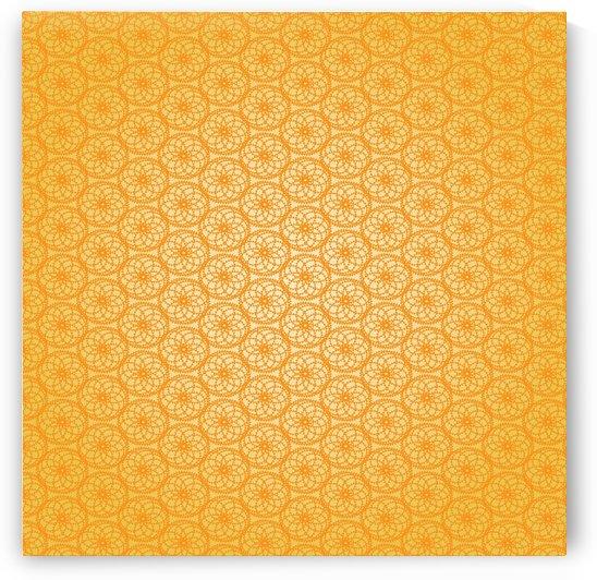 Orange Seamless Pattern Art by rizu_designs