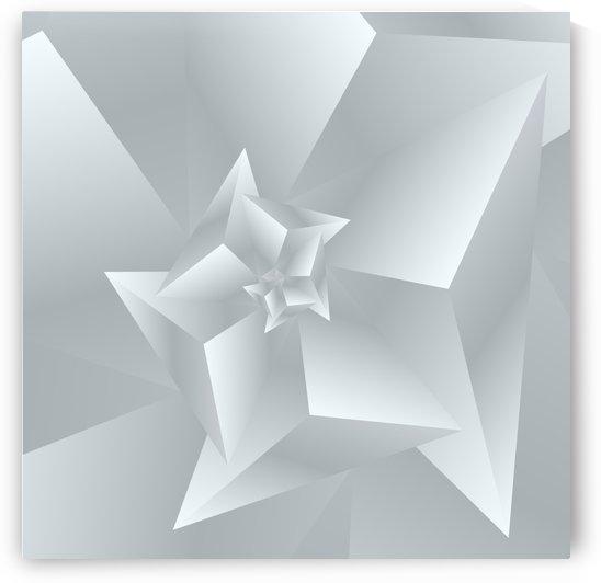 Trendy White Polygen Art by rizu_designs