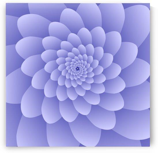 3D Modern Purple  Floral Art by rizu_designs