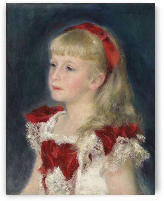 Mademoiselle Grimprel au ruban rouge by Pierre Auguste Renoir