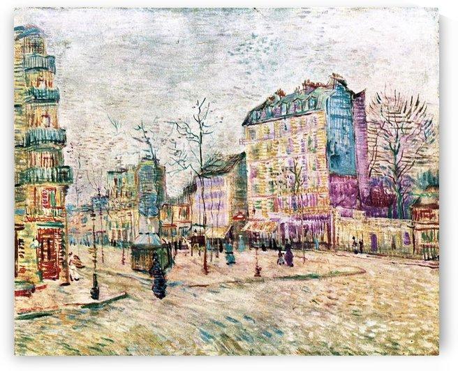 Boulevard de Clichy by Van Gogh by Van Gogh