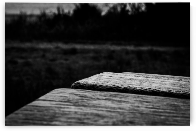 Wooden Bench At The Sea by ClausJS