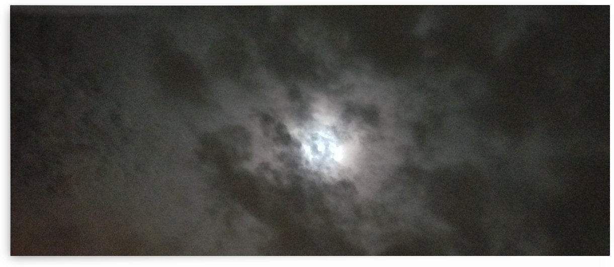 clouds over moon by Wendy A Rohn