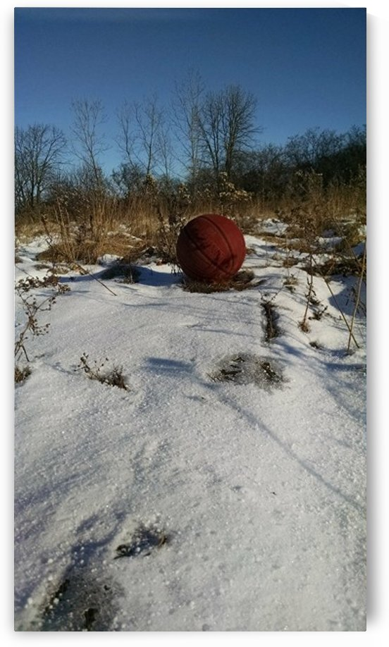 basketball in winter by Wendy A Rohn
