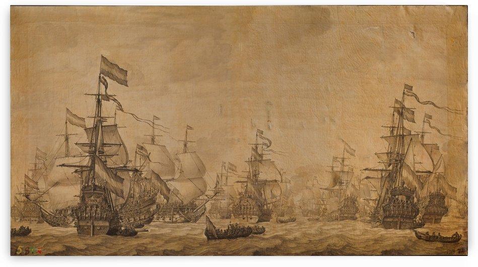 Dutch battleships by Willem van de Velde I