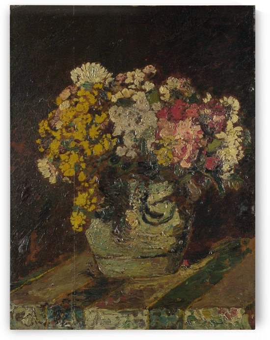 A Vase of Wild Flowers by Adolphe Monticelli