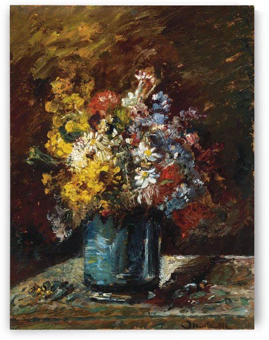 Different Flowers by Adolphe Monticelli