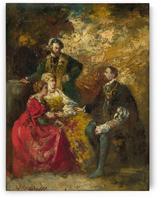 Conversation Piece by Adolphe Monticelli