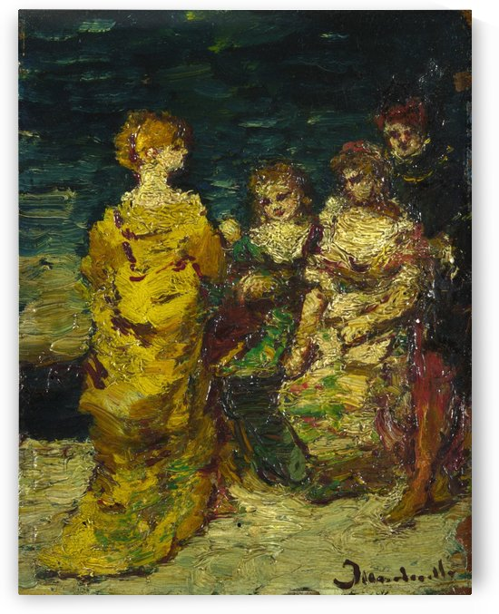 Subject Composition Women by Adolphe Monticelli