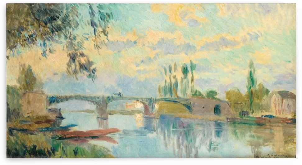 The Bridge of Chatou by albert lebourg