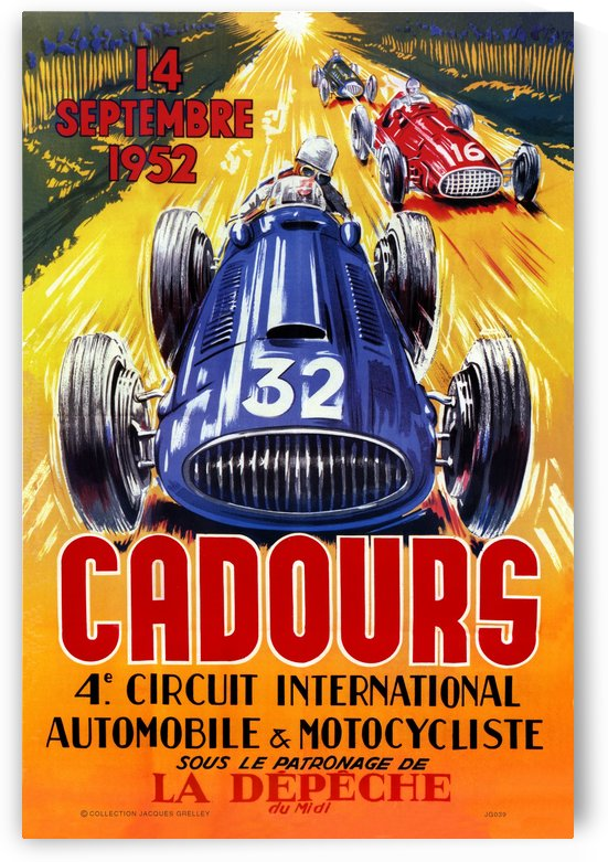 Cadours 4th Circut International 1952 by RacingCarsPosters