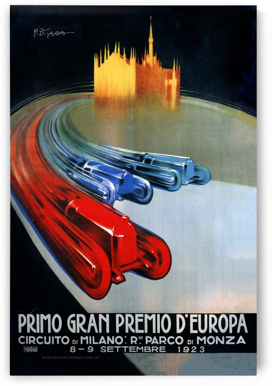 Europe Grand Prix Primo Gran Premio D Europa Circuito Milano Monza 1923 by RacingCarsPosters