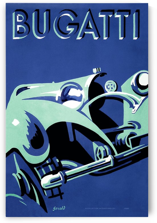 Bugatti Type 50 Super Roadster 1932 by RacingCarsPosters