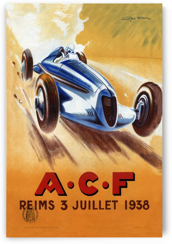 ACF Reims 3 Juillet 1938 by RacingCarsPosters