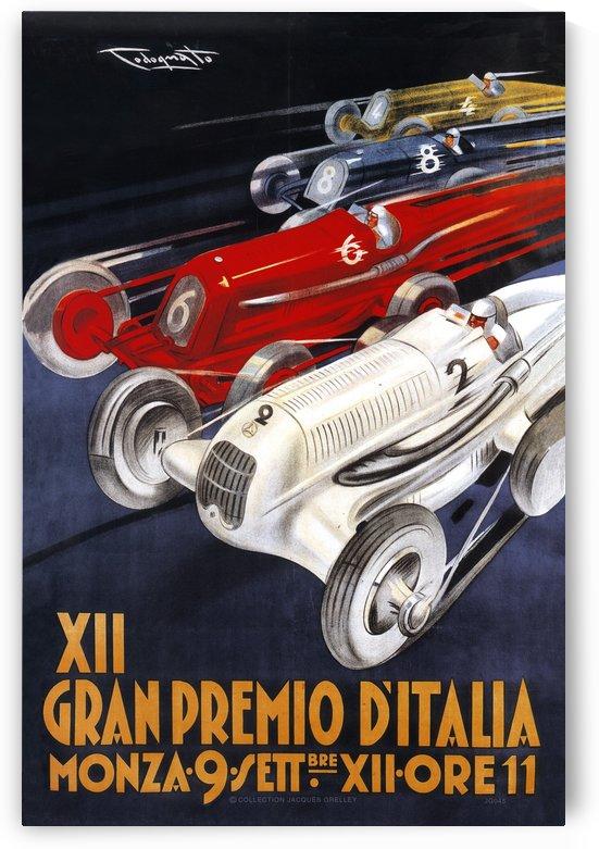 12th Italian Grand Prix XII Gran Premio d'Italia Monza Plinio Codognato 1934 by RacingCarsPosters