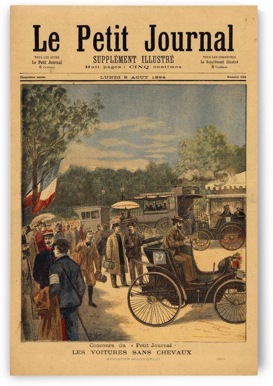 Le Petit Journal 6 Aout 1894 by RacingCarsPosters