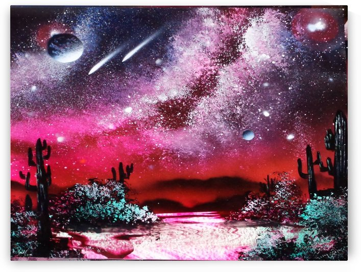 Cactus galaxy by Alisa Amor