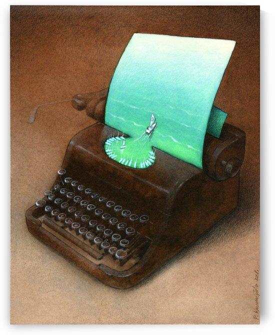 typewriter by Pawel Kuczynski