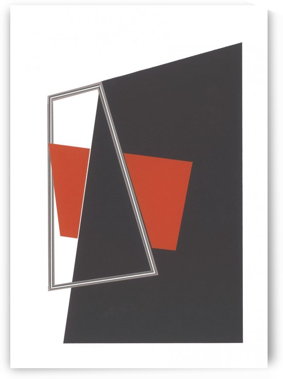 Rød med sølvstreg  by Birgitte Hansen