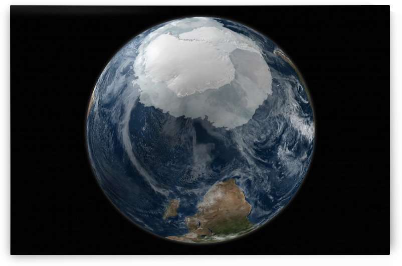 A view of the Earth with the full Antarctic region visible. by StocktrekImages