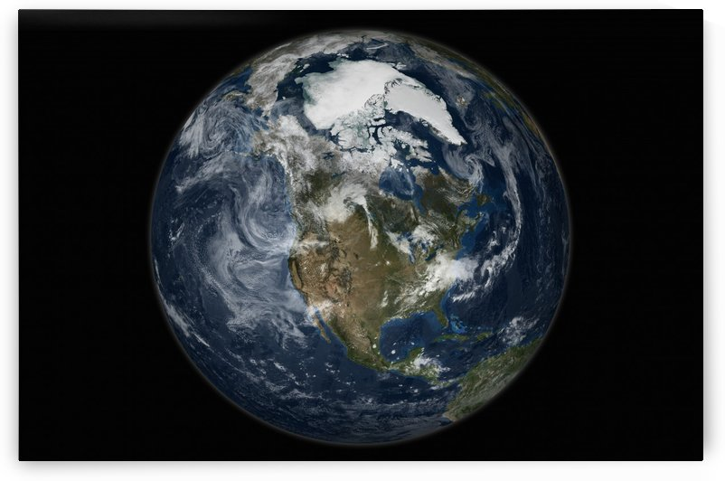 Full Earth showing North America. by StocktrekImages