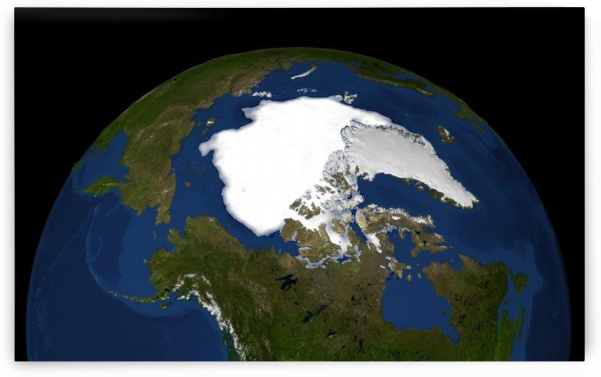Arctic sea ice in 2005. by StocktrekImages
