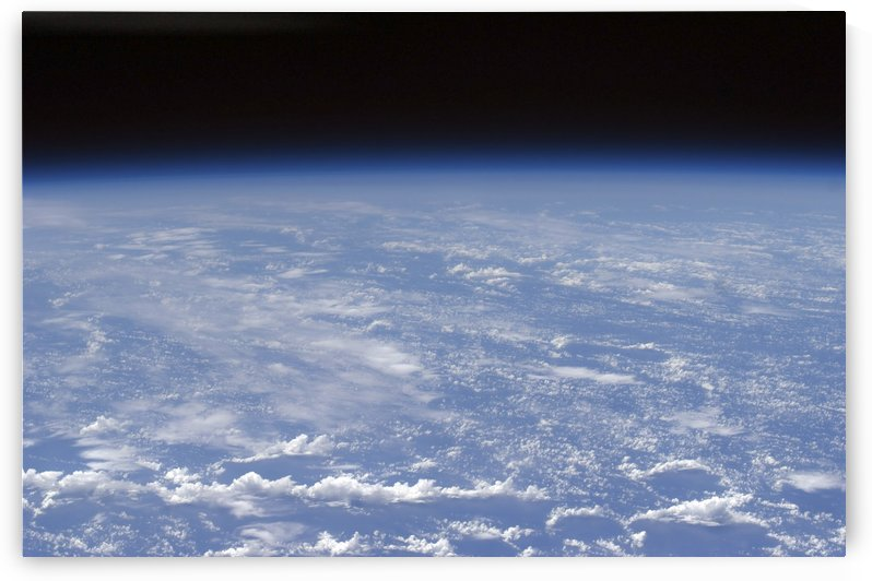 An oblique horizon view of the Earths atmosphere. by StocktrekImages