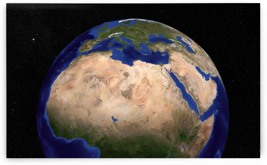The Blue Marble Next Generation Earth showing North Africa. by StocktrekImages