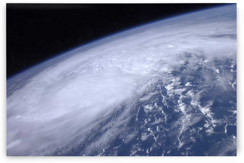 View from space of Hurricane Irene as it passes over the Caribbean. by StocktrekImages