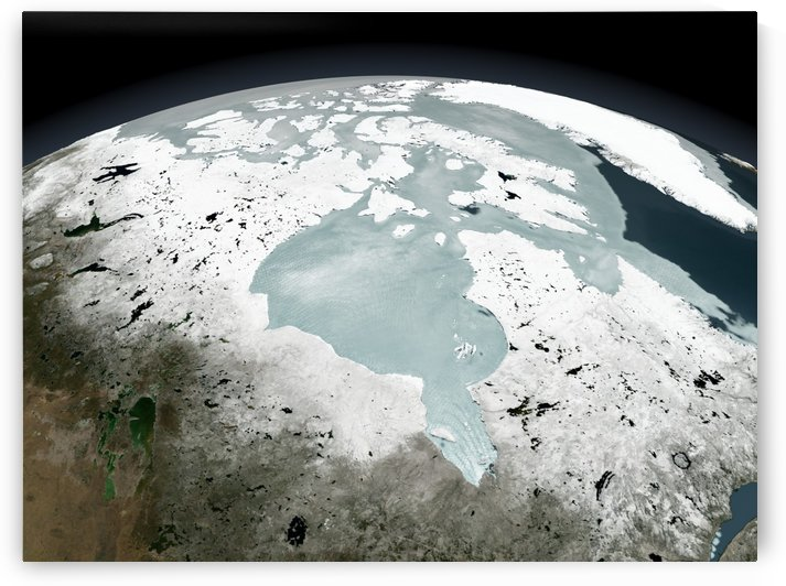 Hudson Bay sea ice on April 29 2006. by StocktrekImages