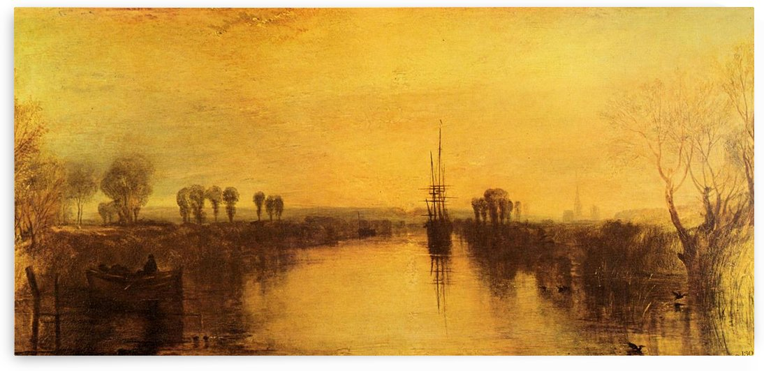 Chichester Canal by Joseph Mallord Turner by Joseph Mallord Turner
