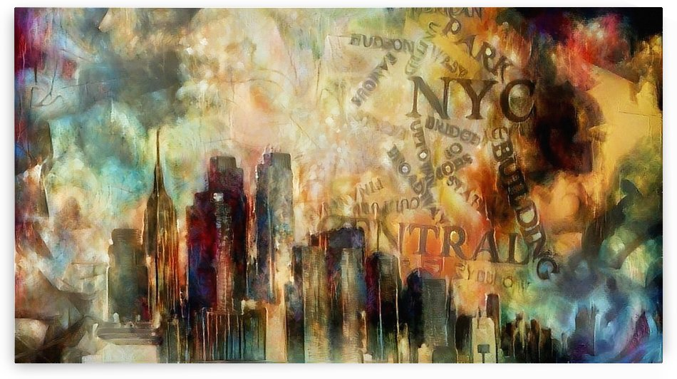New York Skyline Art by Bruce Rolff