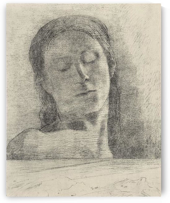 Closed eyes by Odilon Redon by Odilon Redon