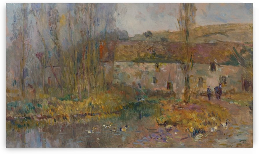 The Watermill in Normandie by Albert lebourg