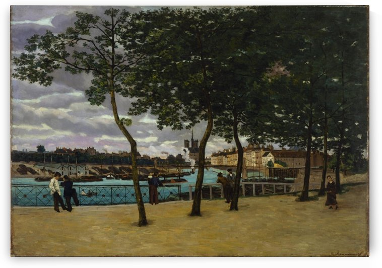 View of the Seine by Albert lebourg