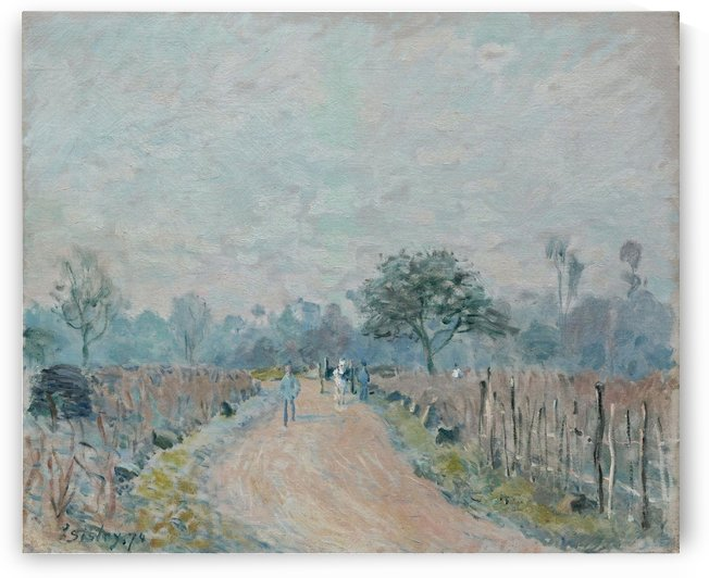 The Road to Veneux and the Side of the Hill by Alfred Sisley