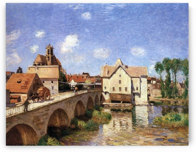 The Bridge of Moret, Morning Effect by Alfred Sisley