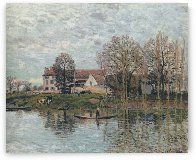 The Seine at Port-Marly by Alfred Sisley