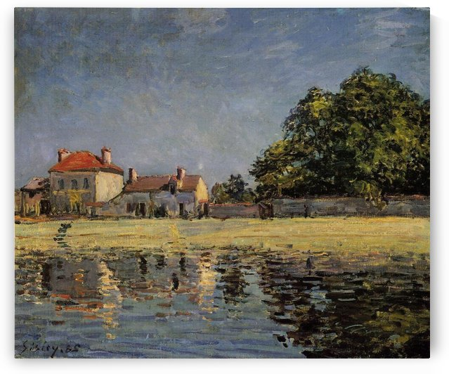 The Channel of Loing at Saint-Mammes canvas by Alfred Sisley