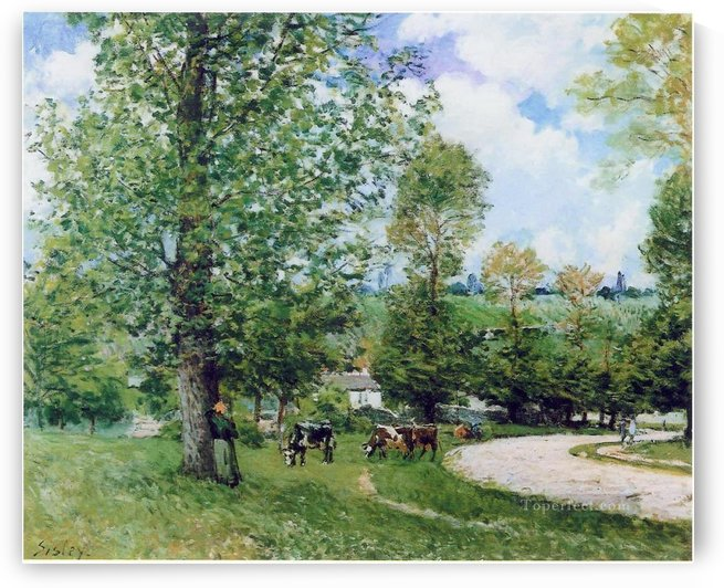 The Cows at Pasture by Alfred Sisley