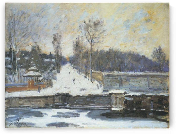 The Watering Place at Marly-le-Roi by Alfred Sisley