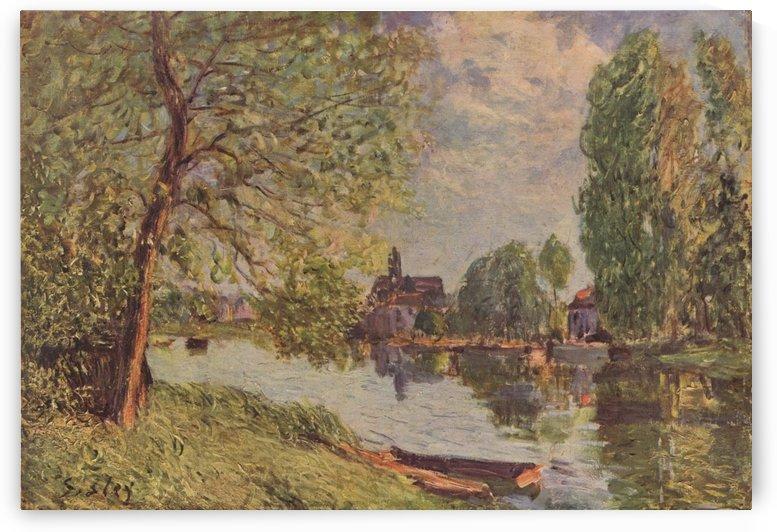 Landscape near Moret by Alfred Sisley
