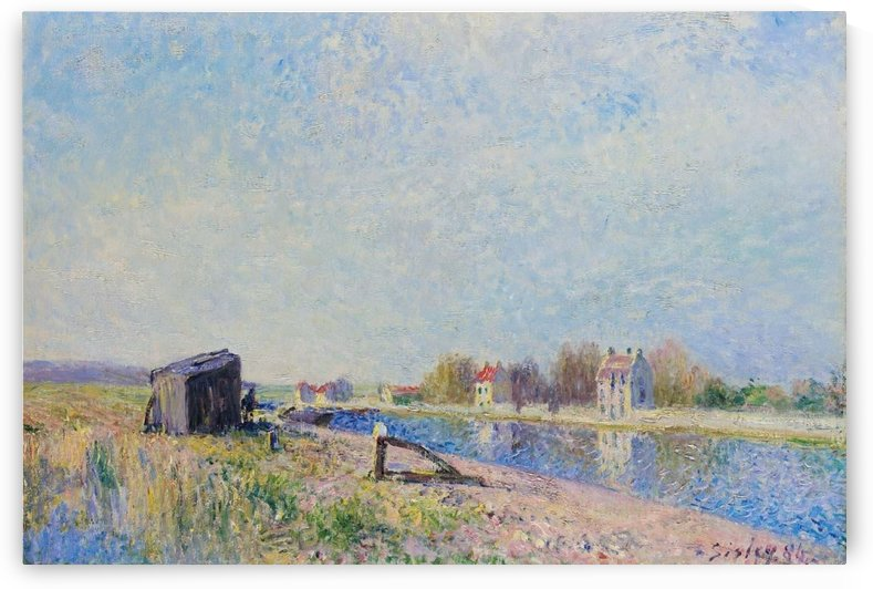 The Channel of Loing at Saint-Mammes by Alfred Sisley