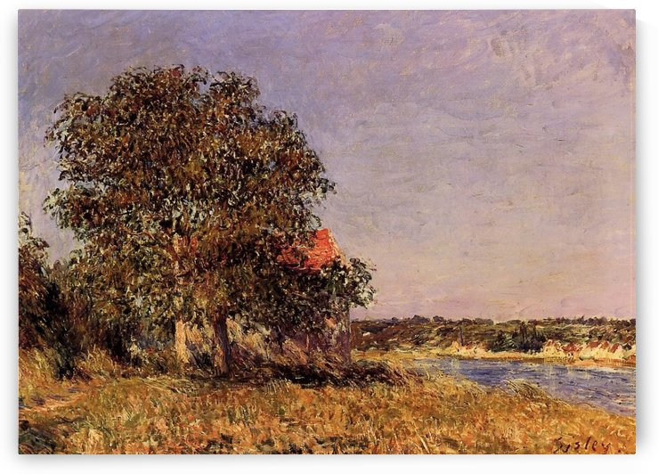 The Village in Champagne, Sunset, April by Alfred Sisley