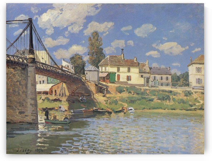 The Channel of Loing in Spring - Morning by Alfred Sisley