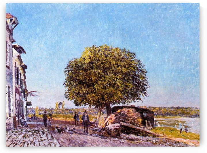 The Chestnut Tree at Saint-Mammes by Alfred Sisley