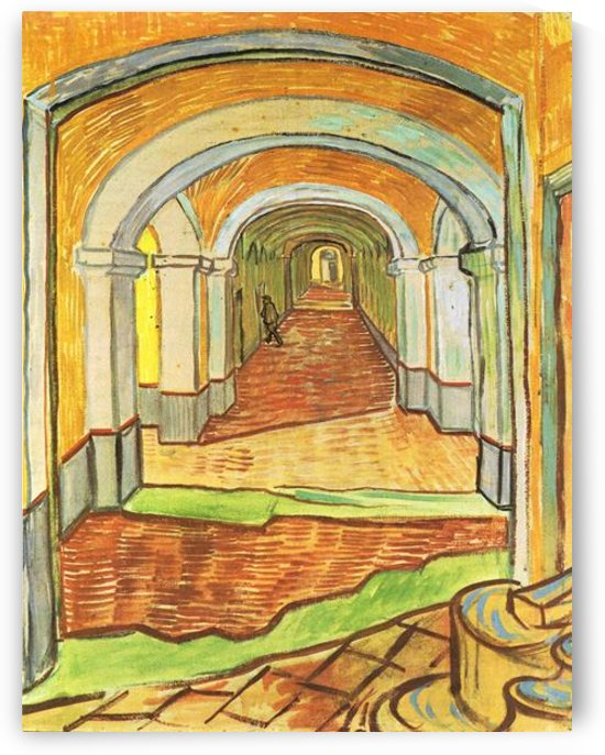 Corridor in Saint-Paul Hospital by Van Gogh by Van Gogh